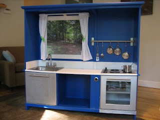 Someday Crafts: Entertainment Center into Play Kitchen