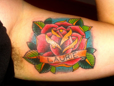 yellow rose tattoo. Roses trend , especially red