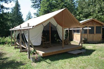 Apropos of nothing colorado yurt company platform tents for Permanent tent cabins