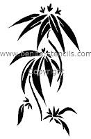 Les pochoirs et dessins d co de benita pochoir de fleur - Pochoir cuisine a imprimer ...