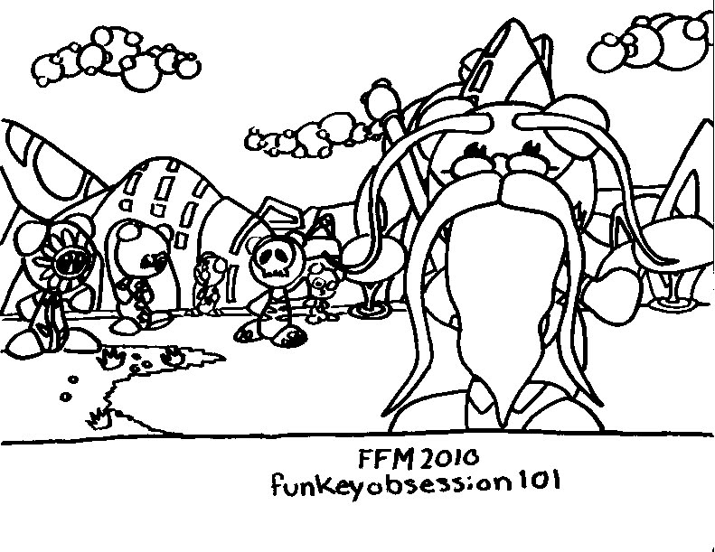 ub funkey coloring pages - photo#3