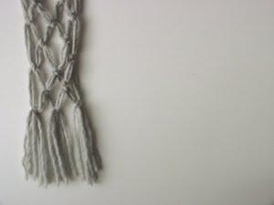 No Knit Scarf Patterns : jane avion: Macrame Scarf