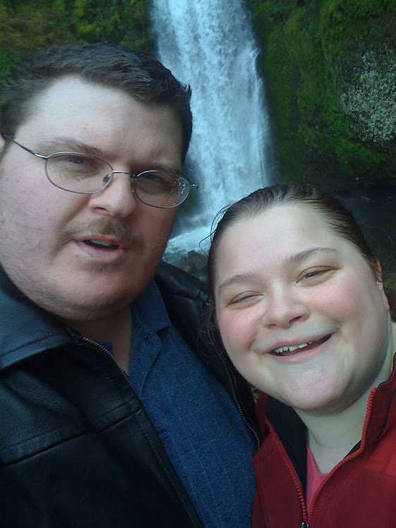Josh and I at the falls