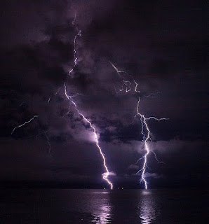 Lightning at Columbia River