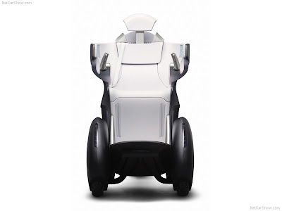 The Toyota i-REAL Concept is a personal mobility vehicle made closely in human scale as a