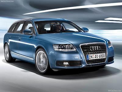 Audi A6 Avant blue poster