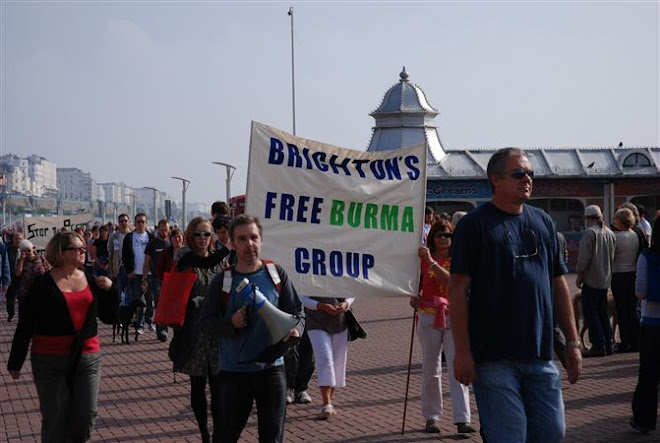 FIRST PHOTOGRAPH OF THE WALK FOR PEACE IN  BURMA.OCTOBER 2007.