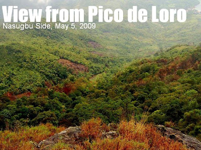 ENVIRONMENTAL ALERT: Pico de Loro is burning!! The Nasugbu side is