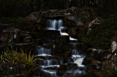 Devonian Botanical Gardens waterfall
