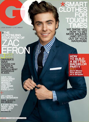 Zac Efron in GQ magazine *
