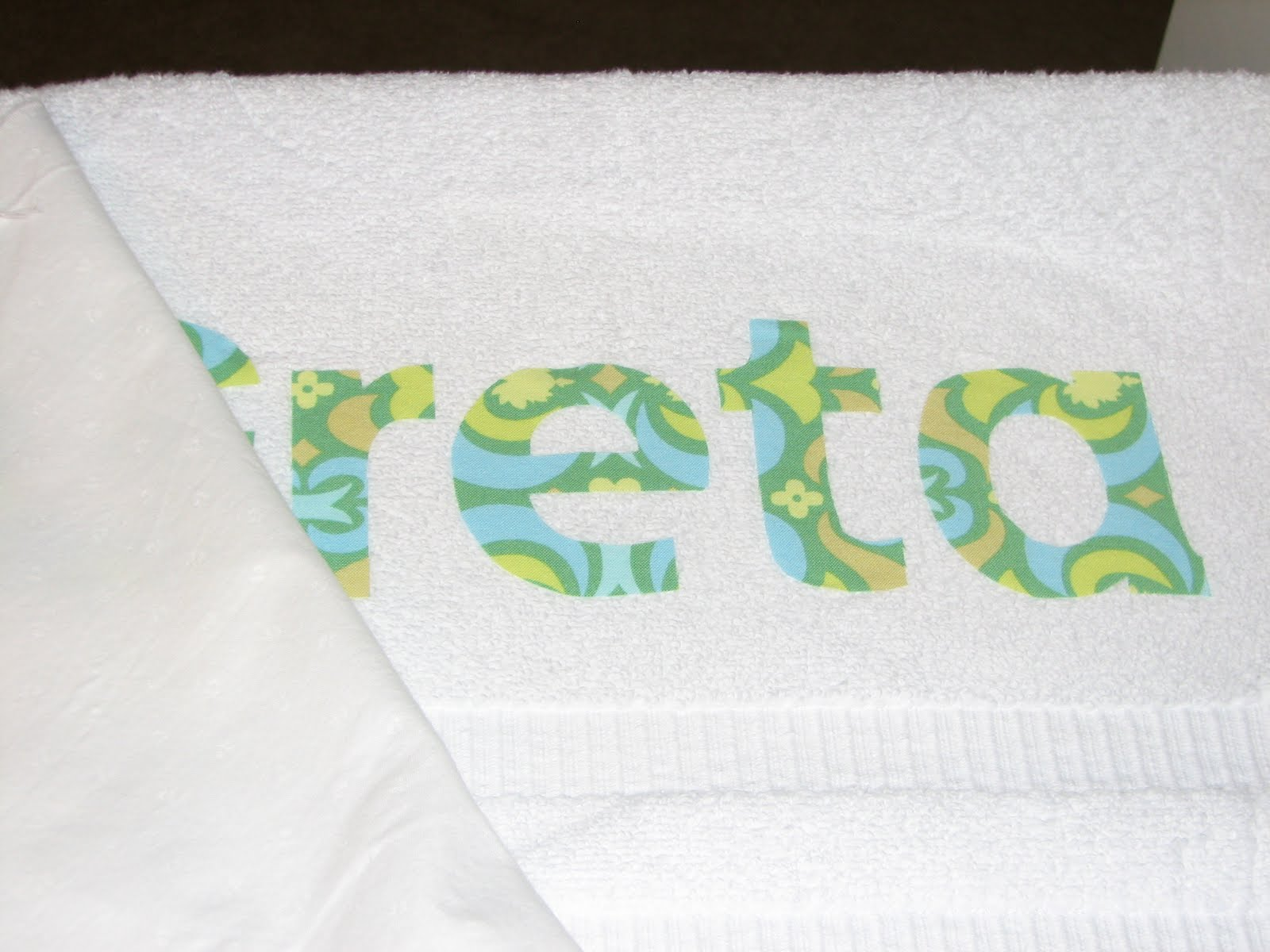 what i made today  tutorial  personalized bath towel
