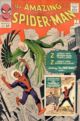 Amazing Spider-Man #2, Spidey battles the Vulture over the skyscrapers of New York City
