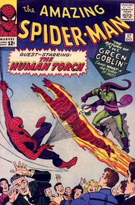Amazing Spider-Man #17, the return of the Green Goblin and the Human Torch