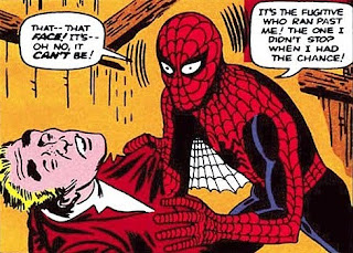 Amazing Fantasy #15, Spider-Man first appearance and origin, Spider-Man discovers the identity of the burglar who killed Uncle Ben