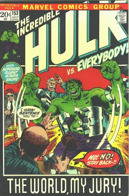 Marvel comics, Incredible Hulk #153, the trial of the Hulk