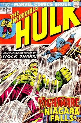 Incredible Hulk #160, Tiger Shark at Niagara Falls