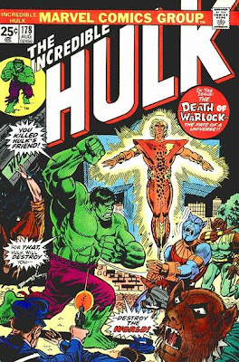 Incredible Hulk #178, death of Adam Warlock, Man-Beast, Counter-Earth, Herb Trimpe