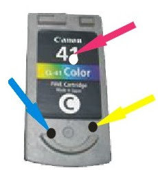 How to refill CL31 canon ink cartridge