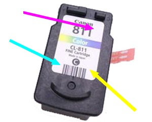 How to refill CL811  Canon ink cartridge