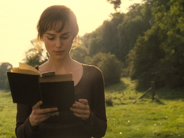 watching pride prejudice film on blu ray in the opening scene where elizabeth bennet was walking and reading a book it was said that she was reading the original p p novel s original title