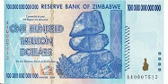 Zimbabwe 100 Trillion Dollar Note
