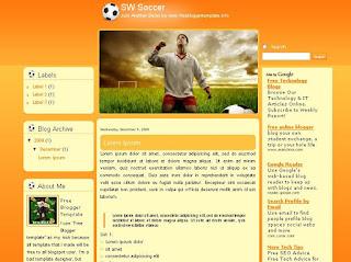 SW Soccer Blogger Template