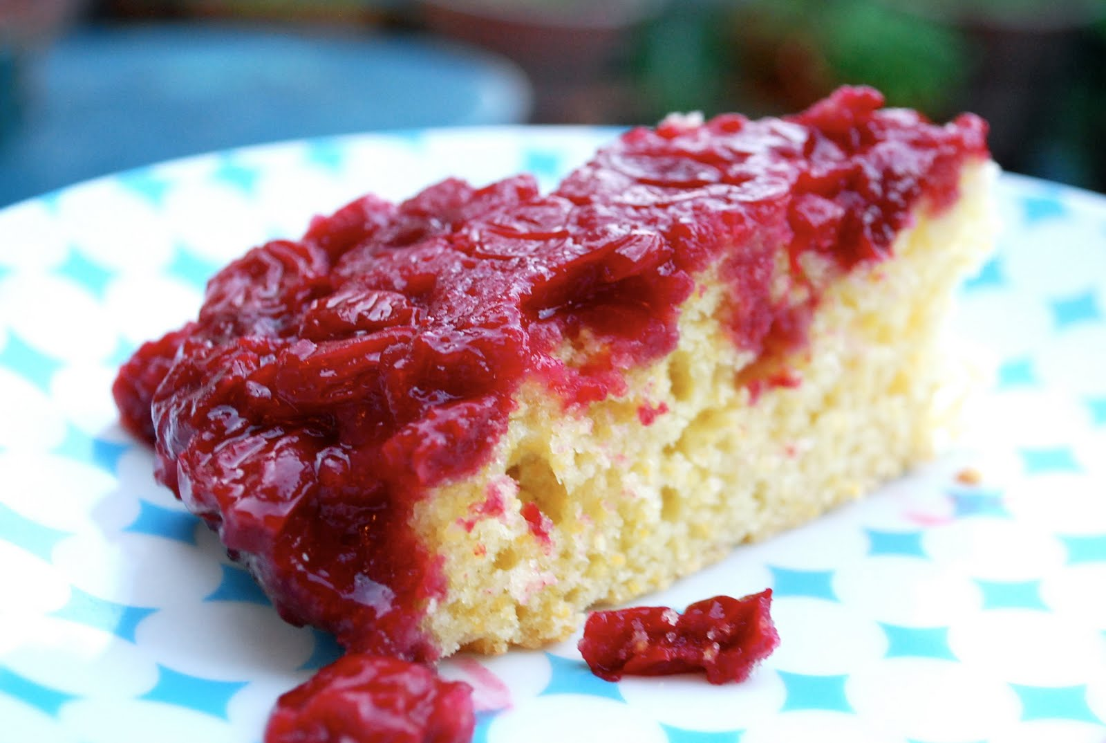 sour cherry & cornmeal upside-down cake | brooklyn supper