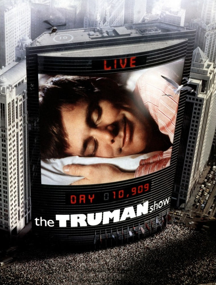 """turman show When the truman show was first released, 20 years ago today, it was viewed as a parable about television and celebrity """"if you think the truman show is an exaggeration,"""" roger ebert wrote in ."""