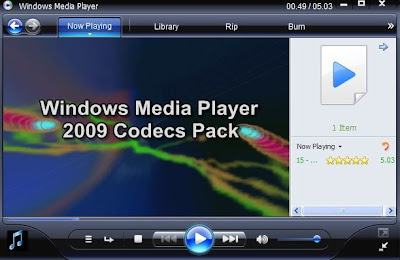 Windows Media Player 2009 Codecs Pack