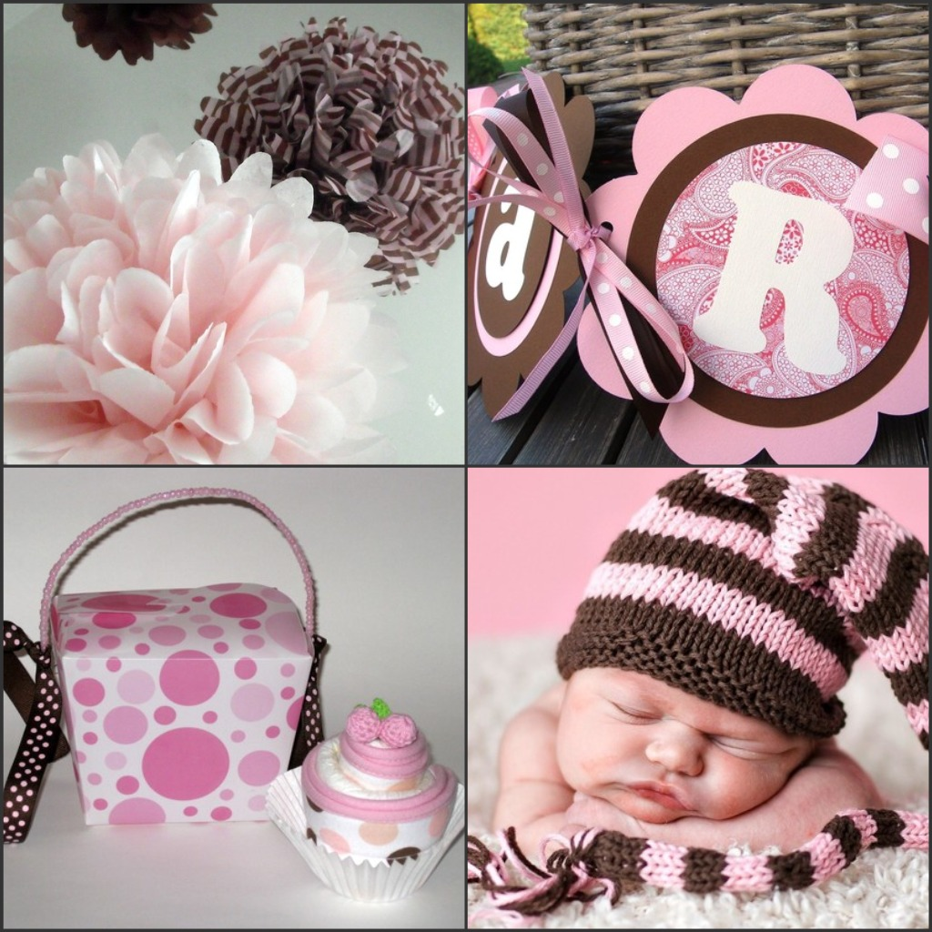 1000  images about pink and brown baby shower on pinterest