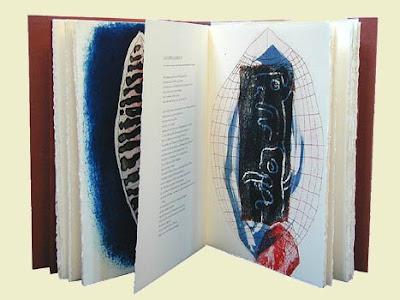 EL NICÁN-NÀUAT, Gedichte von Pablo Antonio Cuadra mit Farbradierungen von Eckhard Froeschlin, 2003, 76 S., 39 x 28 cm
