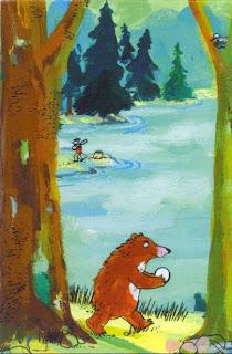 Katja Gehrmann, Originalillustration zu Gans der Bär, 2008