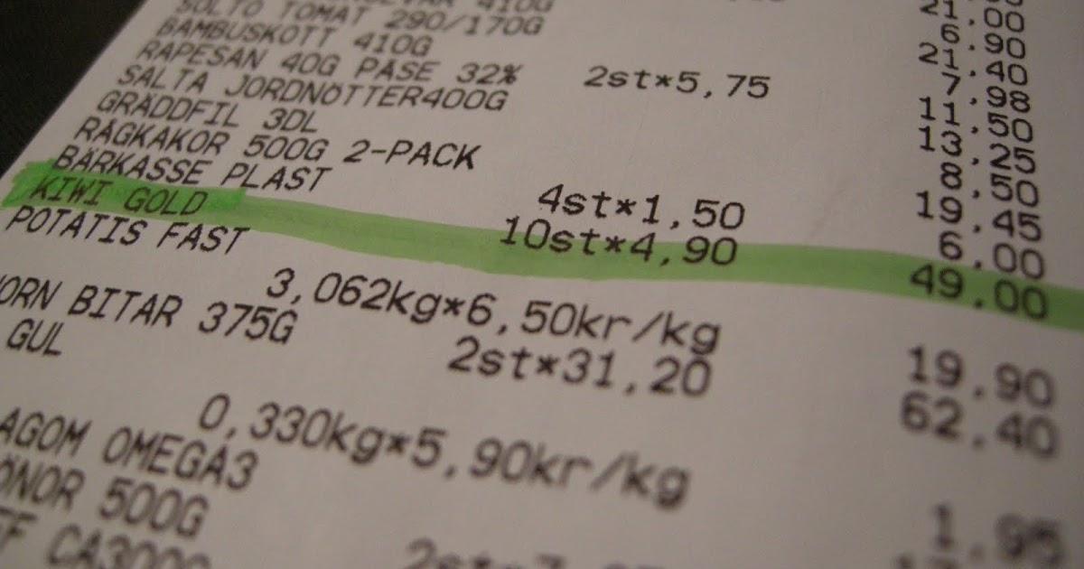 Hur mycket kostar en kiwi