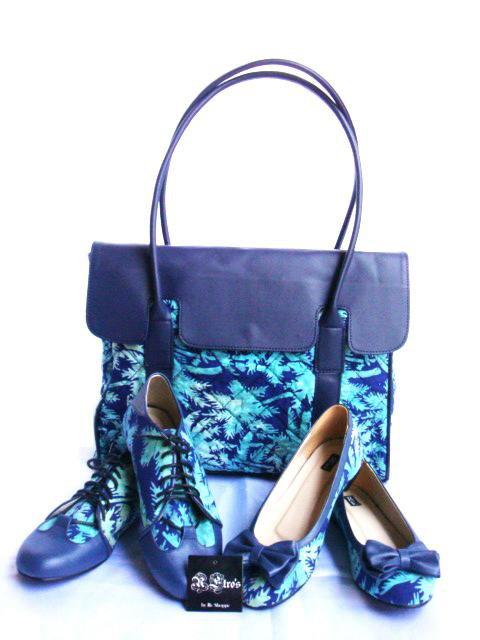 Batik Shoes Indonesia Pairs of Batik Shoes Bag