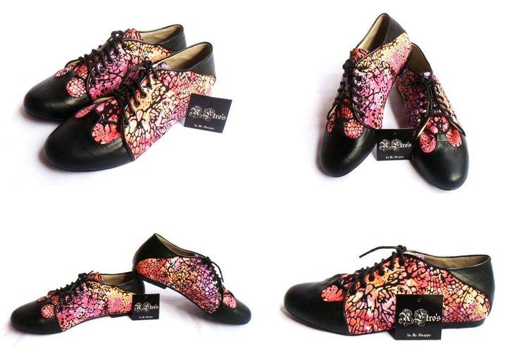 Batik Shoes Indonesia Starfish Batik Oxford Shoes