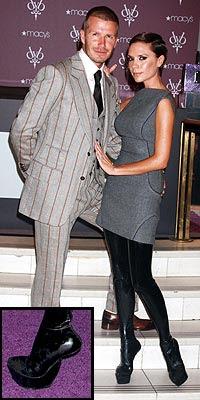 celebrity stock photos - Victoria Beckham and David Beckham