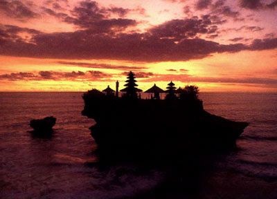 Sunset in Tanah Lot