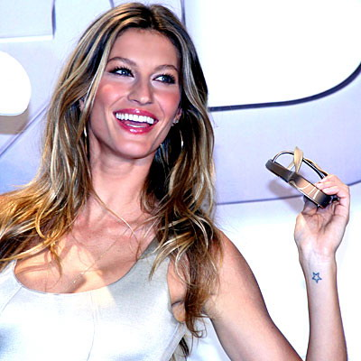 seven star tattoo. Gisele bundchen#39;s star tattoo