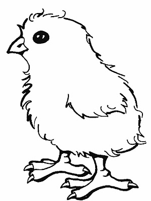 coloring pages of easter chicks. I love this little chick!