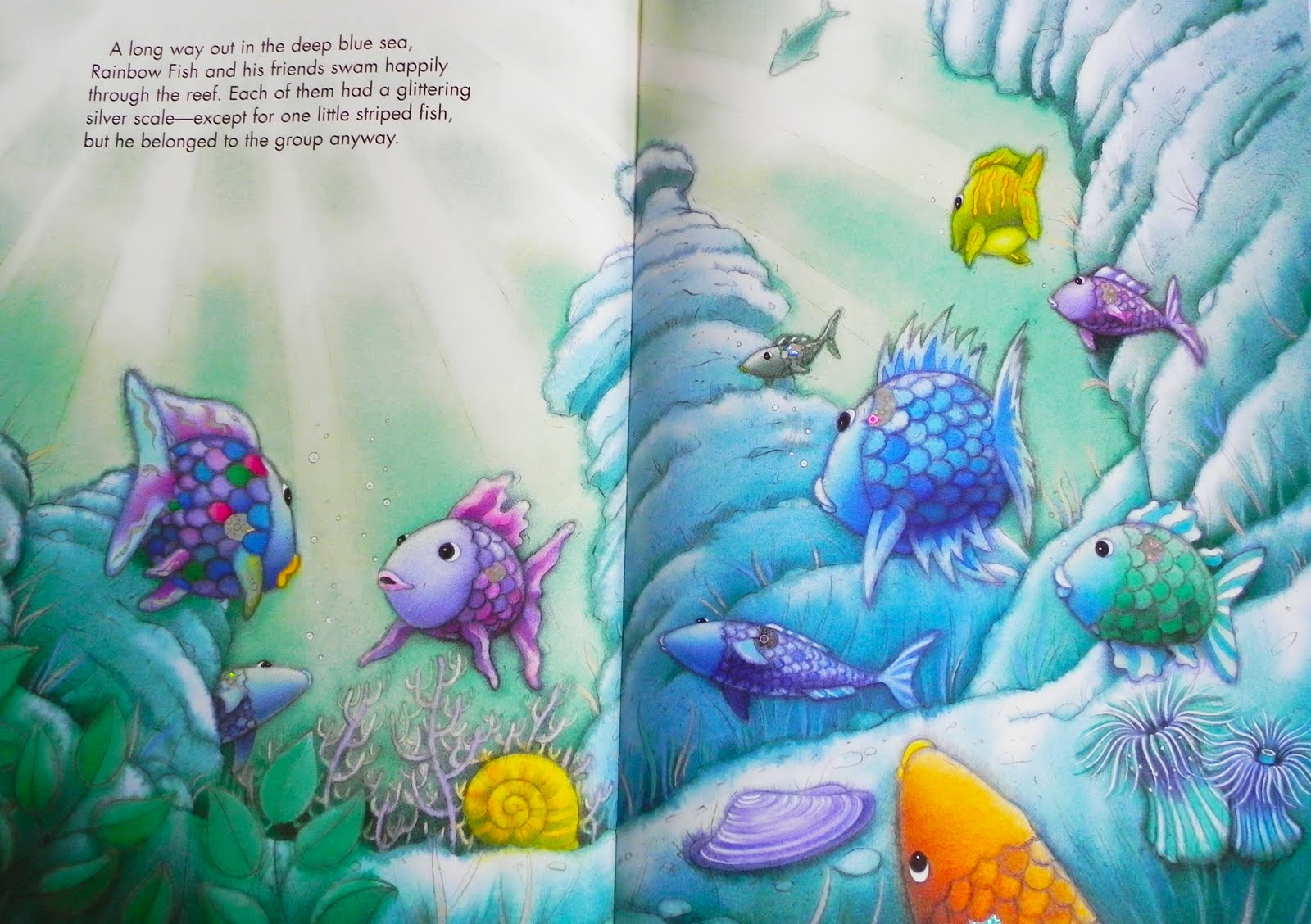 Rainbow fish and the big blue whale game instructions for Big blue fish