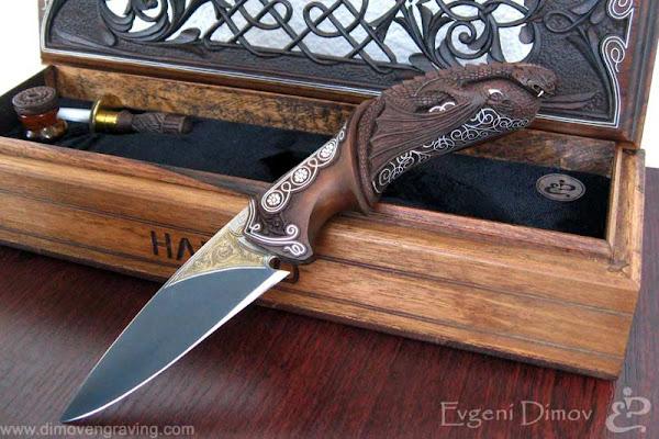 """Комплект """"Нож с  Дракон"""", клас Аристократ"""