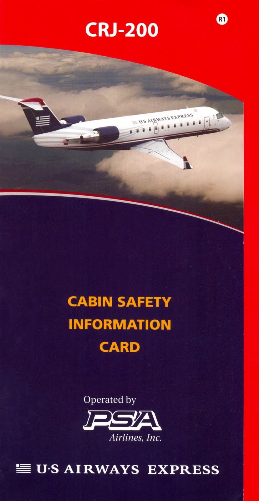 World Safety Cards: US Airways Express - Bombardier CRJ-200