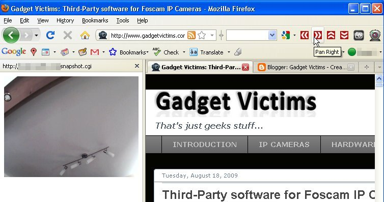 A neat little add-on for Firefox and IP camera users ~ Gadget Victims