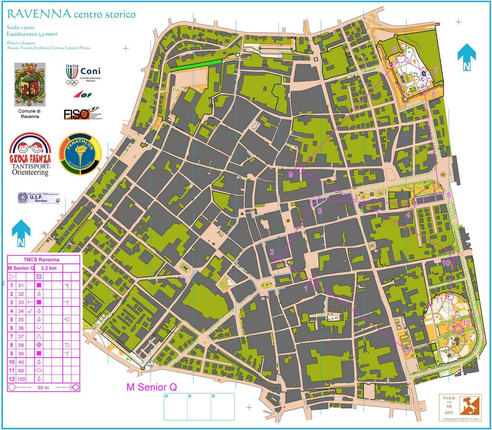 Orienteering Map Ravenna centro storico World of O Maps