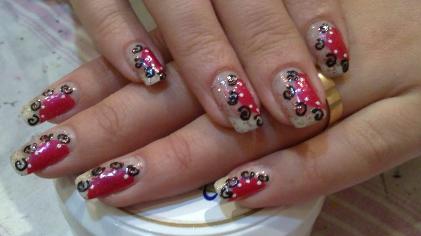The Awesome Cute glitter nail designs Digital Imagery