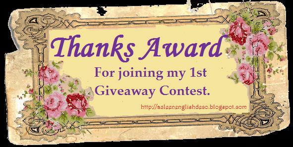 Thanks Award