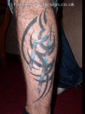 Polynesian Tribal Leg Tattoo by Jon Poulson. Polynesian Tribal Tattoo by Jon