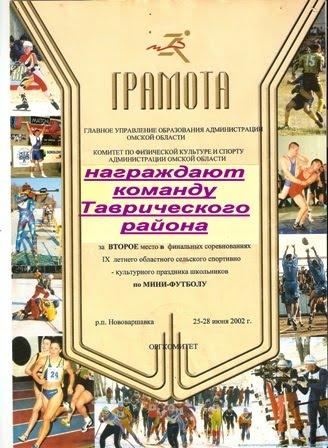 СПАРТАКИАДА ШКОЛЬНИКОВ. Нововаршавка - 2002.