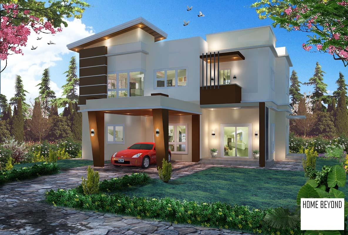 Home beyond property management company for Modern detached house design