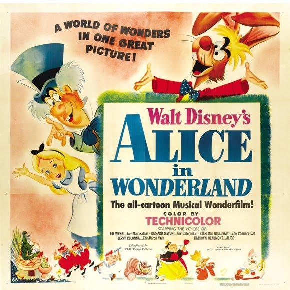 CIRKUMFLEKS) Magazine Ages: Movie Posters. Alice in Wonderland (1951)